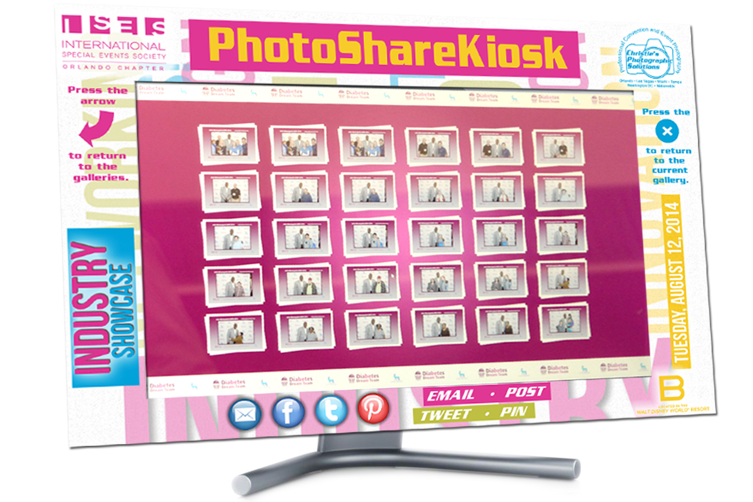PhotoShare Kiosks Combined With Professional Event Photography